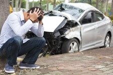 Man distressed over his car accident